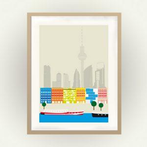 Berlin Poster im Midcentury Stil
