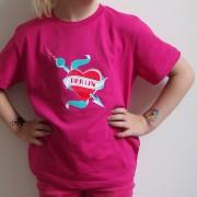 Kindershirt Berlin Fernsehturm pink