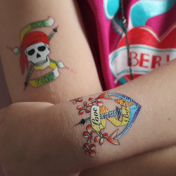 Temporäres Berlin Tattoo