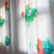 Farbbeutelwurd Paint Bomb Stoff