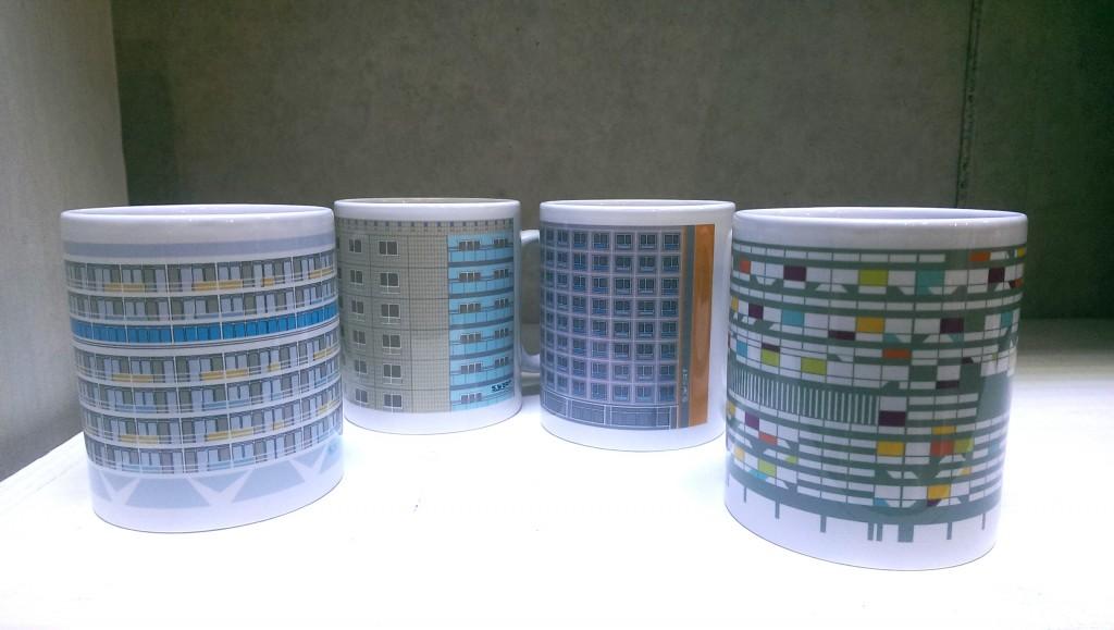 Architekturtassen - 12,50 € - ein kleines, feines Geschenk für Architekten