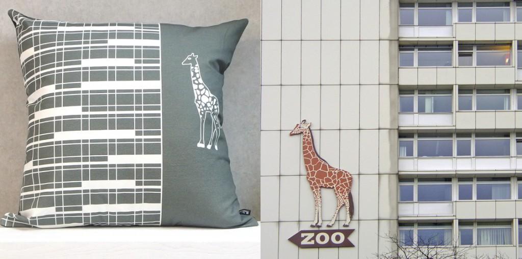 Hochhaus am Zoo Kissen 60 x 60 cm