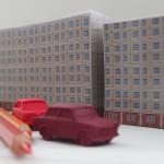 Plattebaufassade Zettelblock