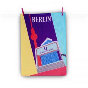 Geschenk aus Berlin Geschirrtuch Alexanderplatz