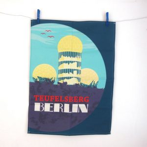 Geschirrtuch Berlin Teufelsberg , Design from Berlin, made in Germany
