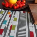 Halbleinen Geschirrtuch mit Fassadenprint: Corbusierhaus
