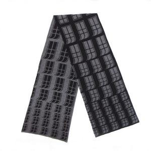 Männer Schal schwarz grau