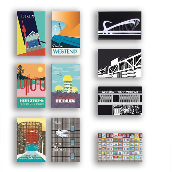 Berliner Architektur Magnete rechteckig