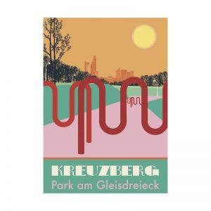 Berlin-Kreuzberg Postkarte: Park am Gleisdreieck