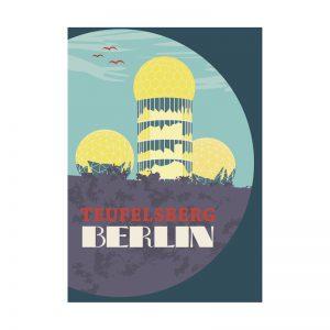 Berlin Postkarte Abhörstation Teufelsberg
