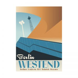 Postkarte Berlin Westend Design aus Berlin