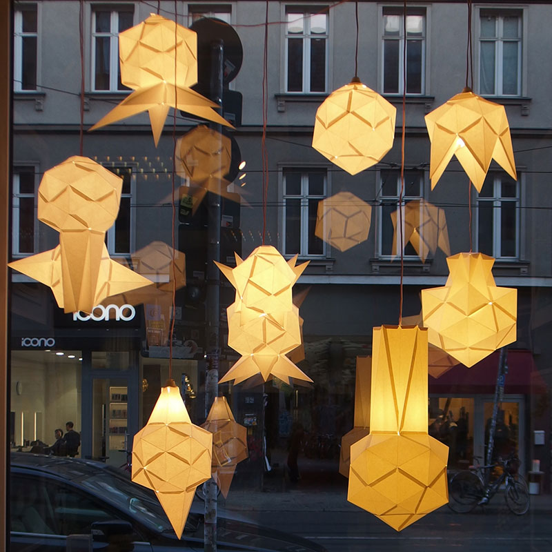 folded paper shades