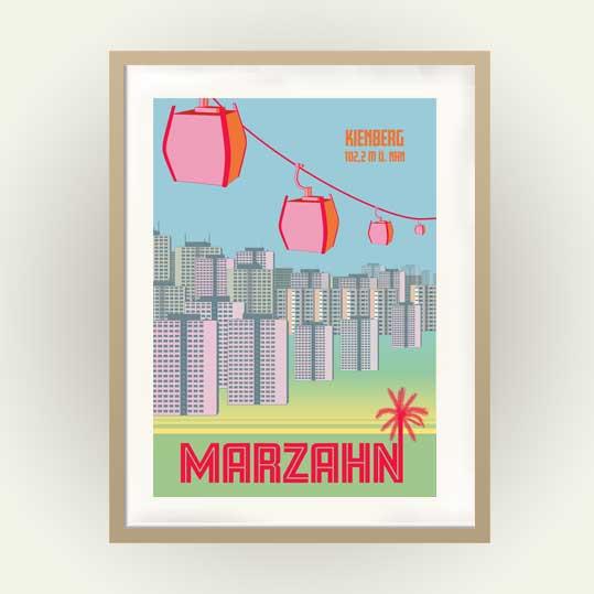 Berlin Retro Poster Berlin Marzahn Kienberg
