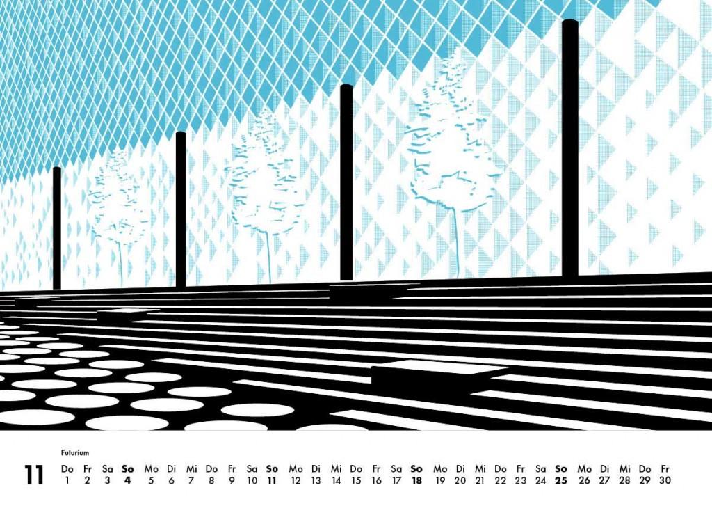 Berlin Wandkalender 2018 schwarz weiss