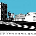 Westberlin Wandkalender 2018