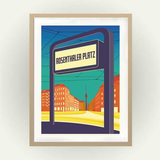 Poster Berlin Rosenthaler Plart