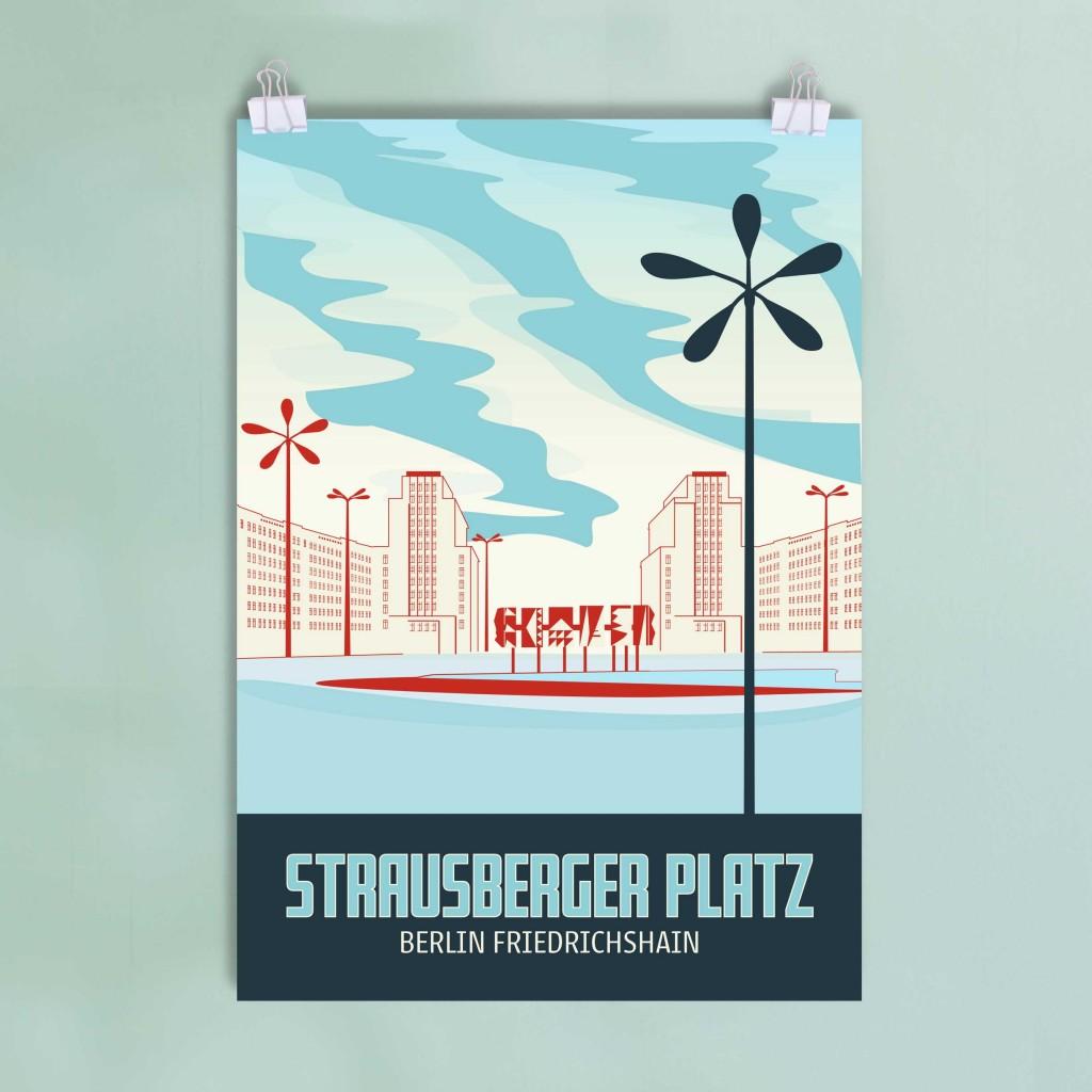 Berlin Poster Friedrichshain