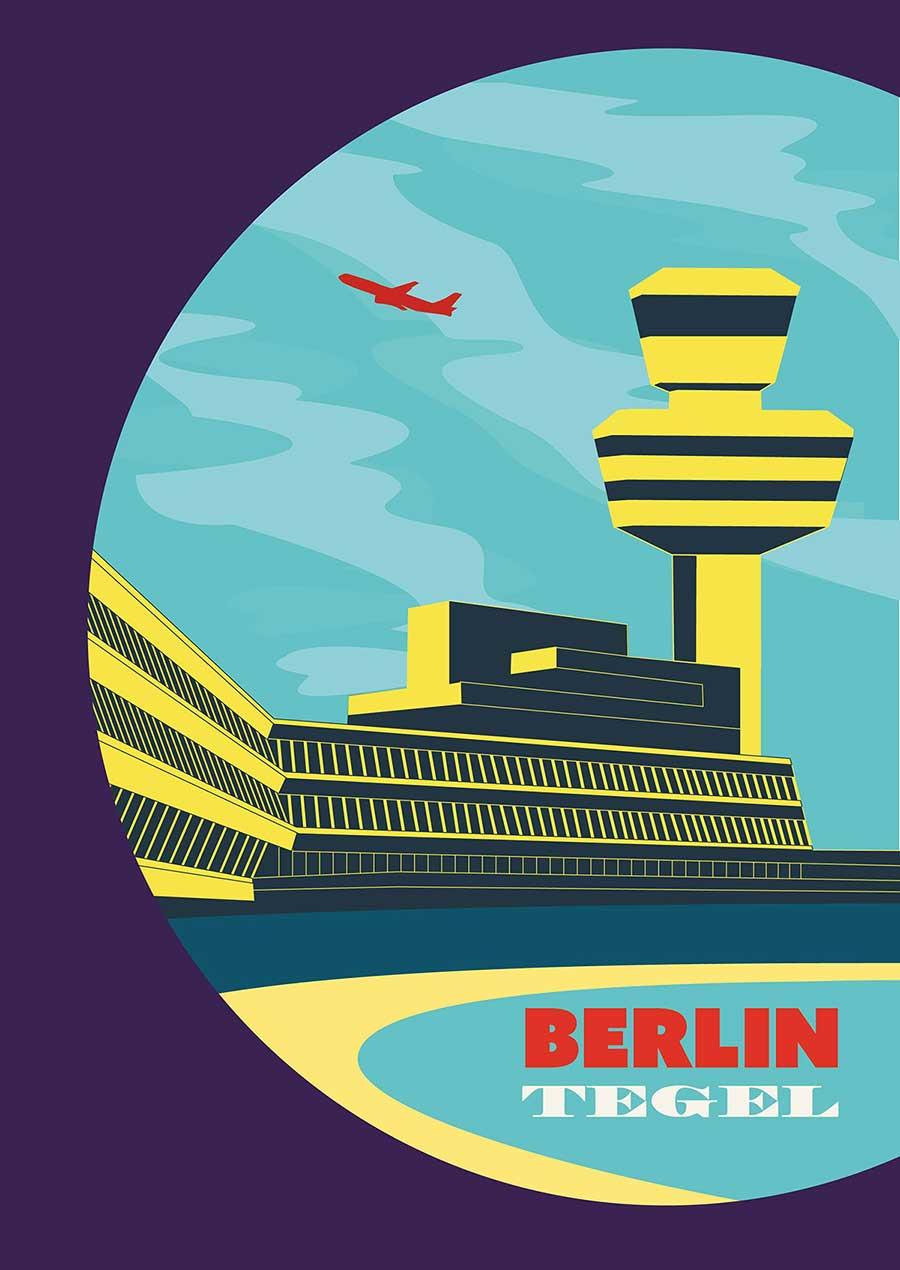 Flughafen Berlin Tegel Poster