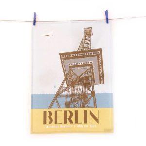 Berlin Geschirrtuch Funkturm Halbleinen Made in Germany