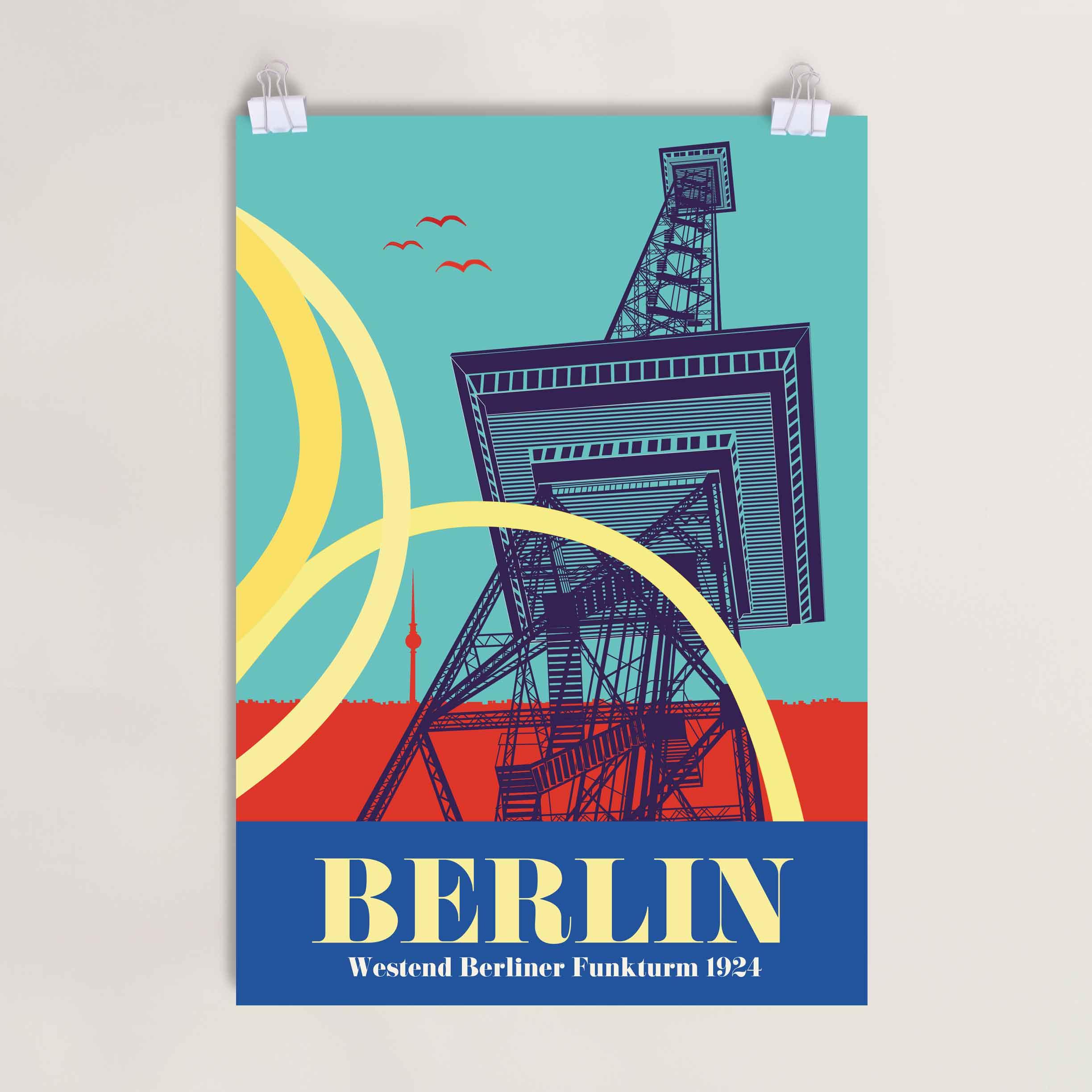 Berliner Funkturm Poster