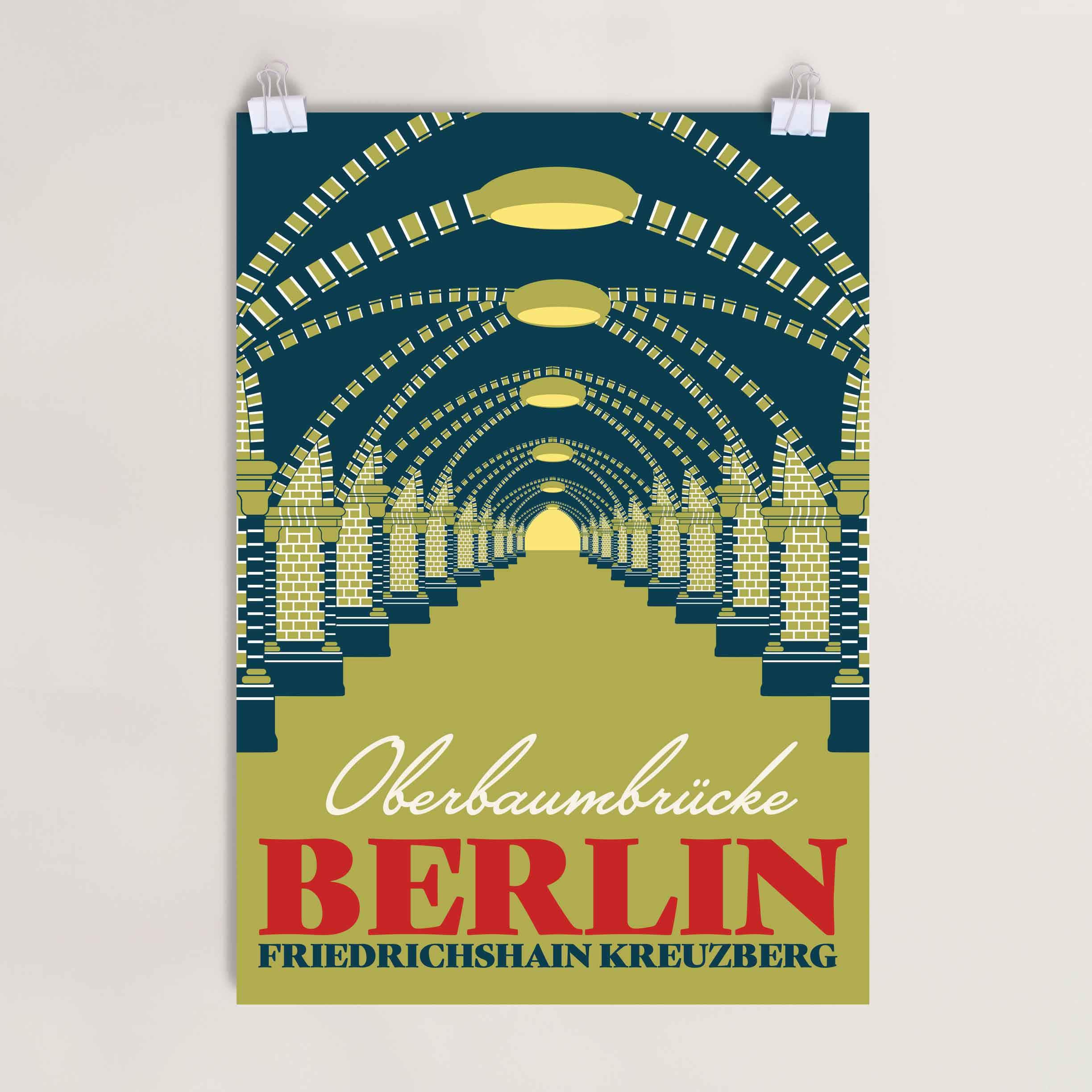 Berlin Oberbaumbrücke Poster