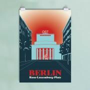 Berlin-Poster-Rosa-Luxemburg-Platz