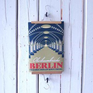 Berlin Friedrichshain Oberbaumbrükce Kunstdruck