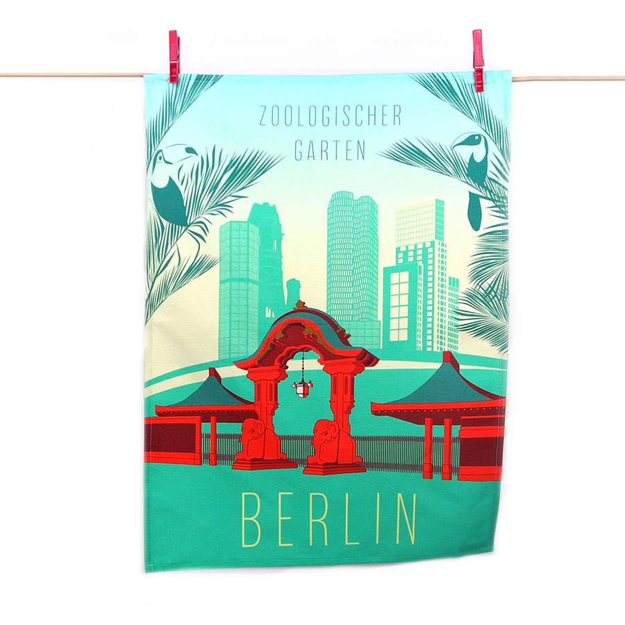 Berlin Geschirrtuch Design City West