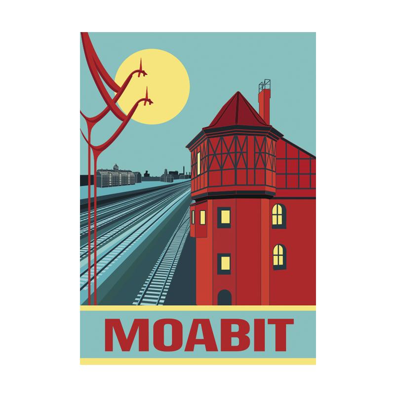 Postkarte Berlin Moabit