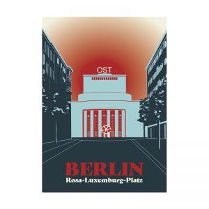 Postkarte Berlin Volksbühne