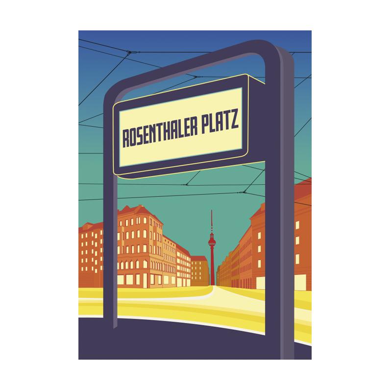 Postkarte Berlin Rosenthaler Platz