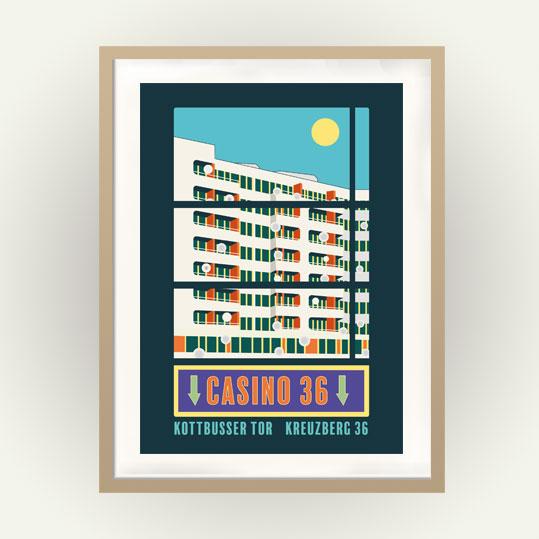 Vintage Travel Poster Berlin Kreuzberg