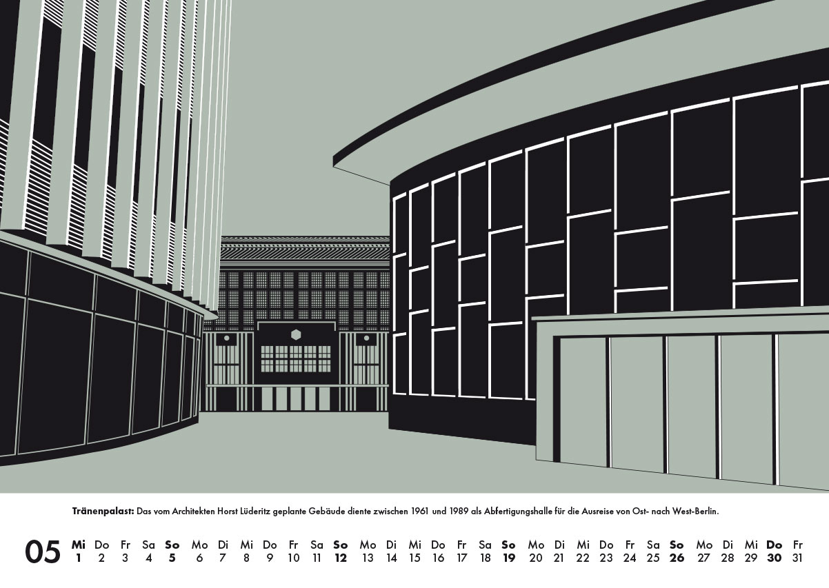 Tränenpalast Architektur Kalender 2019 Mauerkalender
