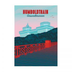 Postkarte Grafik Berlin Humboldthain Gesundbrunnen