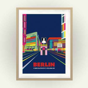 Berlin Retro Poster Checkpoint Charly