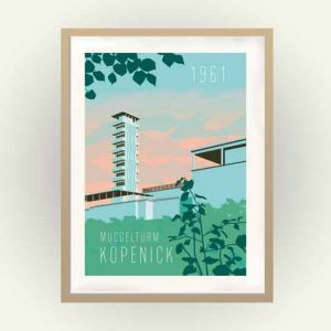 Poster Berlin Köpenick Müggelturm
