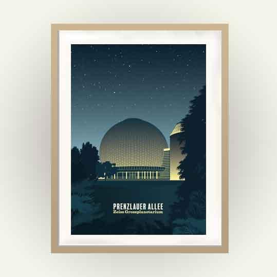 Berlin Poster Prenzlauer Berg Planetarium