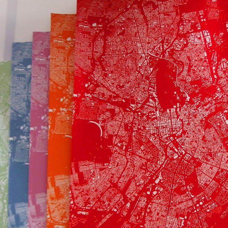 Berlin Stadtplan Kunstdruck