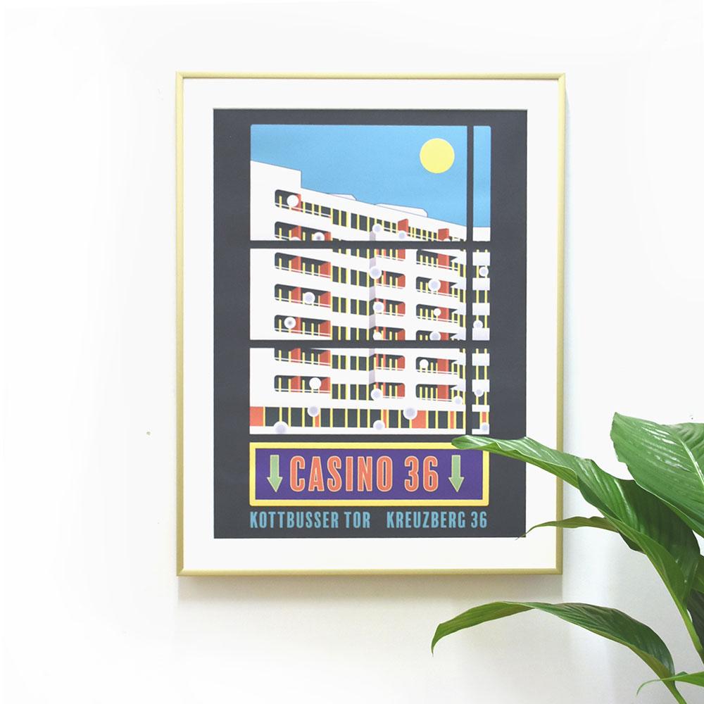 Berlin Poster Kottbusser Tor gerahmt