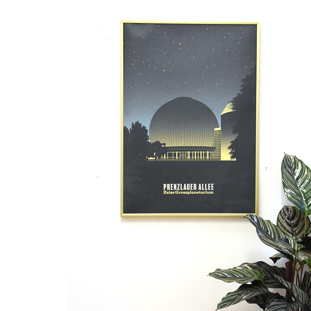 Berlin Poster Prenzlauer Berg gerahmt