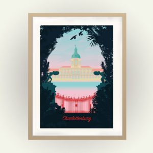 Berlin Poster Schloss Charlottenburg