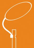 orange Grafik Straßenleuchte abstrakt