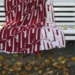 Strickdecke rot weiß: