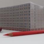 Notizblock, Ostmoderne, Plattenbau Berlin