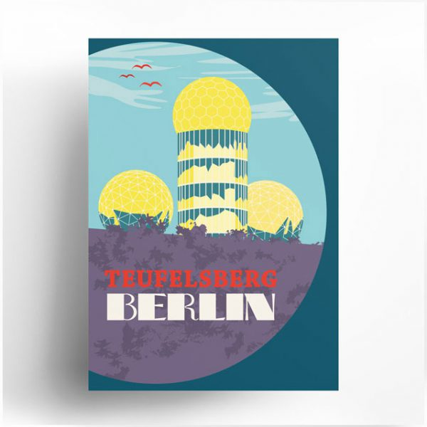 Poster Berlin Teufelsberg