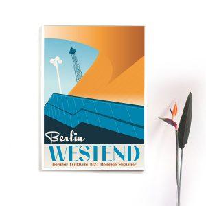 Berlin Poster Westend im Rahmen