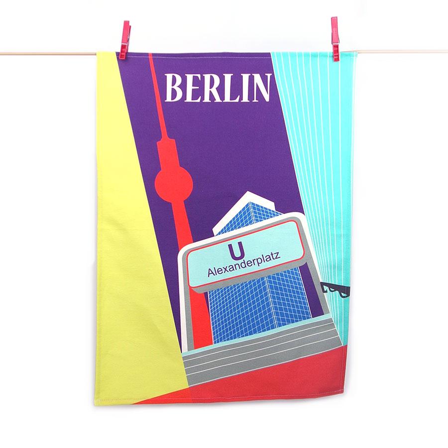 Berlin Design Geschirrtuch Alexanderplatz