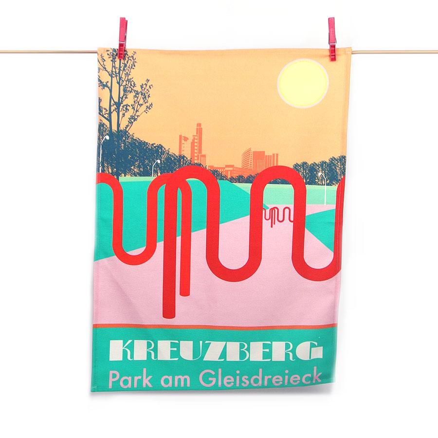 Park am Gleisdreieck Geschirrtuch