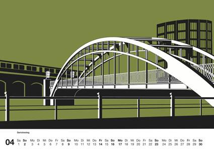 Berlin Kalender 2017: Brücken