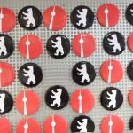Berlin Magnete rot schwarz, Fernsehturm, Berliner Bär, rund